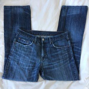 Banana Republic Straight Dark Wash Denim Jeans